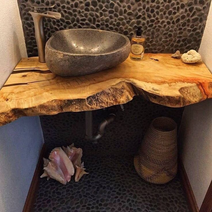 Деревянная столешница под раковину