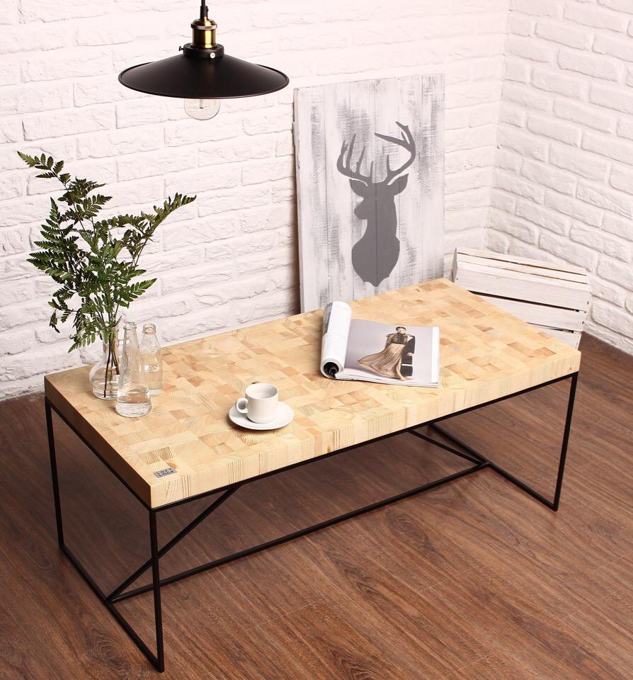 Кофейный столик из торцевых спилов