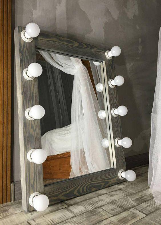 Гримерное зеркало лофт