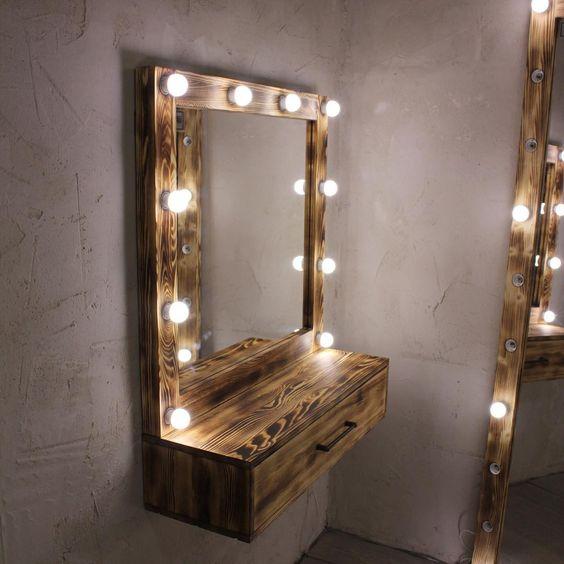 зеркало с подсветкой лофт
